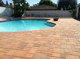 indoor swimming pool stonehurst sierra brick paver deck outdoor