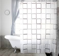 Check Shower Curtain Peva Shower Curtain Black And White Checkered Shower Curtain