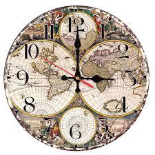 Home Decor Clocks 2017 New Fashion Wall Clock Wooden Clocks Quartz Watch Europe Home