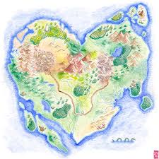 Heart Map Island Maps