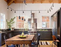 Kitchen Industrial Lighting Track Lighting Kitchen Kitchen Design To Charming Dining Chair