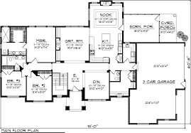 ranch floor plans with 3 car garage citadel traditional ranch home plan 055d 0055 house plans and more