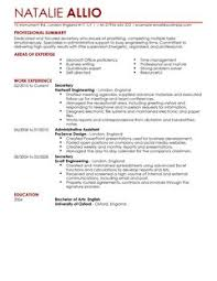 The Best CV and Cover Letter Templates in the UK   LiveCareer LiveCareer secretary   admin assistant thumbnail resume