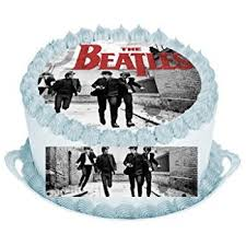 beatles cake toppers 7 5 beatles edible icing birthday cake topper co uk
