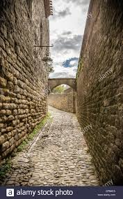 Carcassonne Carcassonne France Europe Old Cobbled Streets Inside The
