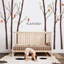 Wall Decals For Baby Nursery Tree Wall Decal With Personalized Name