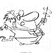 mailman coloring pages vector of cartoon music conductor swirling his baton coloring