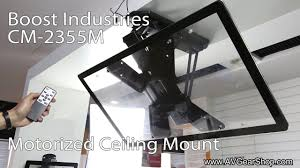 Motorized Ceiling Mount Tv by Boost Industries Cm 2355m Motorized Flip Down Tv Ceiling Mount
