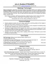 Radiology Tech Resume Cover Letter Medical Technologist Resume Template Free Medical