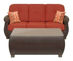 Swivel Outdoor Patio Chairs by Breckenridge Red 4 Pc Patio Furniture Set Swivel Rockers Sofa