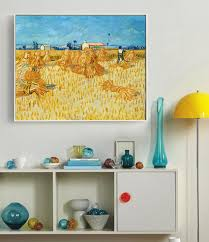 online get cheap harvest art aliexpress com alibaba group oil paintings van gogh harvest straw hay the field farm training field summer provence wall painting canvas art home decor