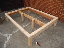 Build Wooden Bed Frame High Underside For Size Platform Bed Plan To Assorted Plans