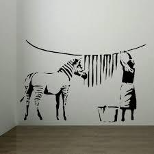 aliexpress com buy banksy zebra stripes laundry room wall art