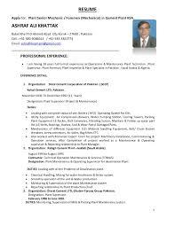 Mechanical Foreman Resume Ashraf Ali Cv 1 4