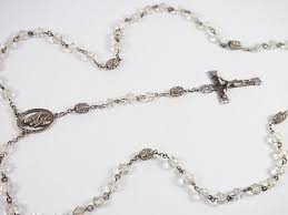 creed rosary vintage sterling silver rock bead creed blue ad