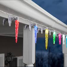 snowfall lights home depot lightshow 20 light colormotion cliplights icicle light string 110974