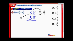 Subtracting Mixed Fractions Worksheets Add U0026 Subtract Mixed Numbers Chapter 5 Lesson 3 7th Grade Math