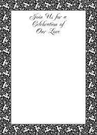 black and white party invites