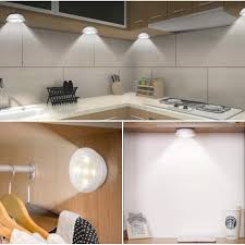counter kitchen cabinet lights mini battery powered sensor cabinet lights wall motion sensor led l with remote for home closet counter