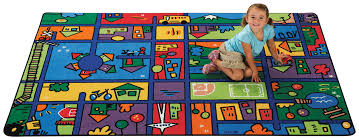 funky town road rug carpets for kids