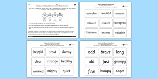 an adjective in a sentence spag lesson teaching pack