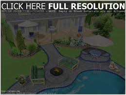 Free Online Landscaping Software by Backyards Stupendous Backyard Without Grass 100 Free Online 3d