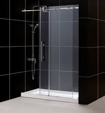 dreamline enigma x fully frameless sliding shower door and