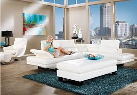 White Living Room Set Shop For A Sofia Vergara Sybella White 3 Pc Sectional Living