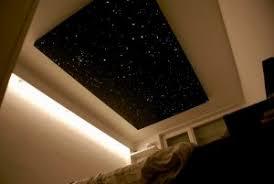 plafond chambre étoilé ciel etoilé fibre optique chambre plafond led mycosmos