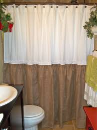 Burlap For Curtains Burlap Shower Curtain Was Show The Traditional Style Beauty Home