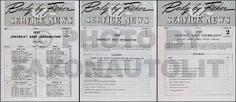 1953 1964 chevrolet body moulding and attaching parts catalog reprint