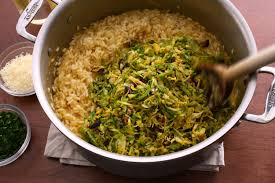 thanksgiving brussel sprout recipes brussels sprouts and lemon risotto recipe chowhound