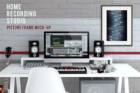 Home Recording Studio Design Home Recording Studio Mock Up 2 Product Mockups Creative Market