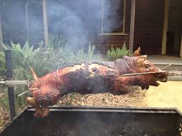 and this little piggy was spit roasted u2026 the grass is greener