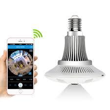 security light with camera wireless zilnk panoramic 360 degree bulb light ip camera wireless wifi