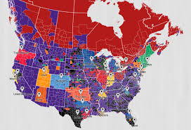 nba divisions map fan map shows popularity of nba teams across