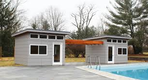 fabulous modern pool house sheds portable poolhouse free quote