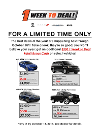 1 week to deal south chicago dodge chrysler jeep
