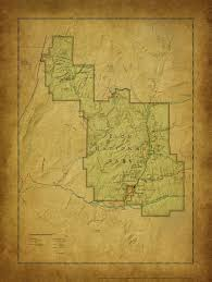 map of zion national park zion national park vintage map mcgovern company