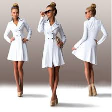 Long Trench Coats For Women Slim Belted Long Trench Coat For Women Double Breasted Trench