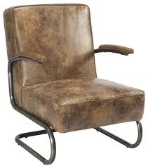 Low Back Armchair Perth Club Chair Light Brown Industrial Armchairs And Accent