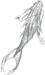 mermaid sketch by corey halvorson artwanted com