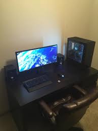 gaming setup desk first time builder converted from consoles gaming pinterest