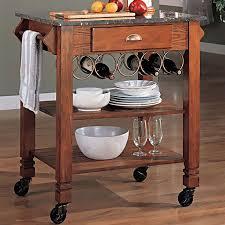 Granite Top Kitchen Island Cart Kitchen Island Cart With Granite Top Beautiful Oak Finish Kitchen