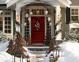 Christmas Decorations For Outside Columns by 89 Best Holiday Decorating Images On Pinterest Christmas Ideas