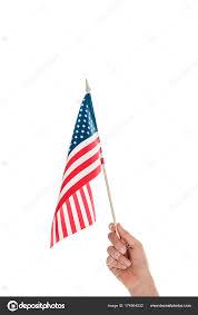 Holding The Flag Hand Holding American Flag U2014 Stock Photo Igorvetushko 174564532