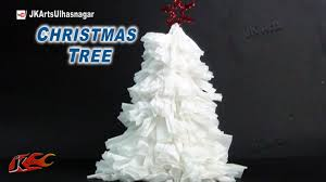 how to make tissue paper christmas tree diy christmas
