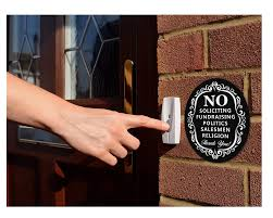save 17 no soliciting metal sign for home and business