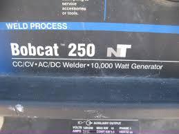 miller bobcat 250nt welder generator item e3436 sold ma
