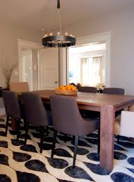 modern dining room rugs round glass top carving legged dining